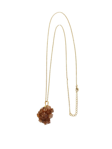 Short Necklaces gold plated (over sterling silver) with natural stone coin