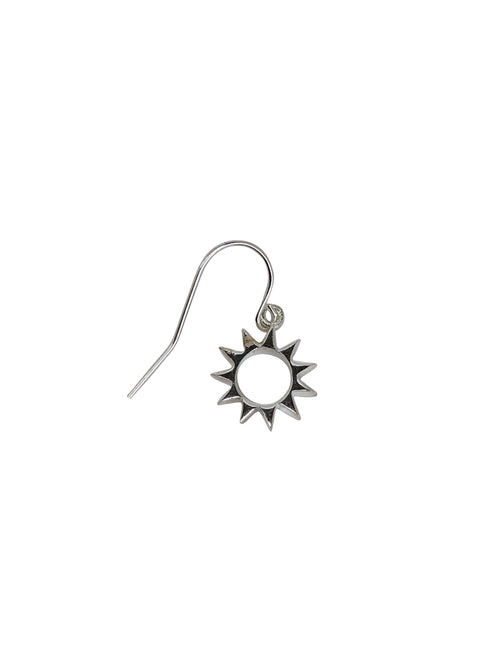 earrings, oorbellen, zilver, silver, single piece, losse oorbel, zon, sun