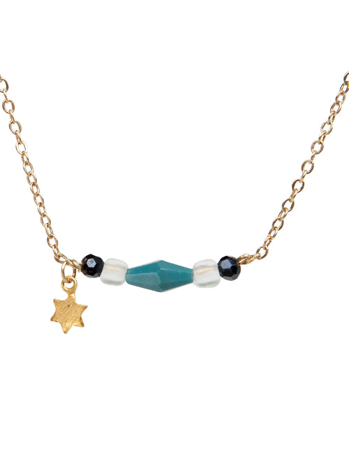 """Falling Star"" 24K Champagne-Gold plated chain with Gold Plated star"