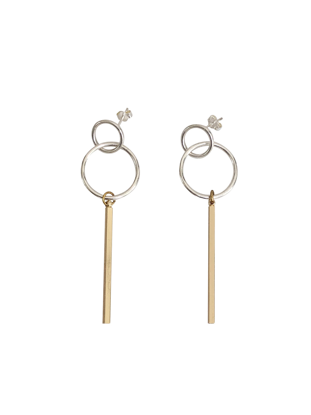 silver statement oorbellen earrings