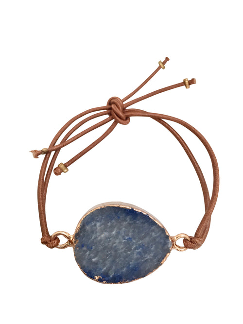 """Blue You"" - stretch bracelet with natural blue stone"