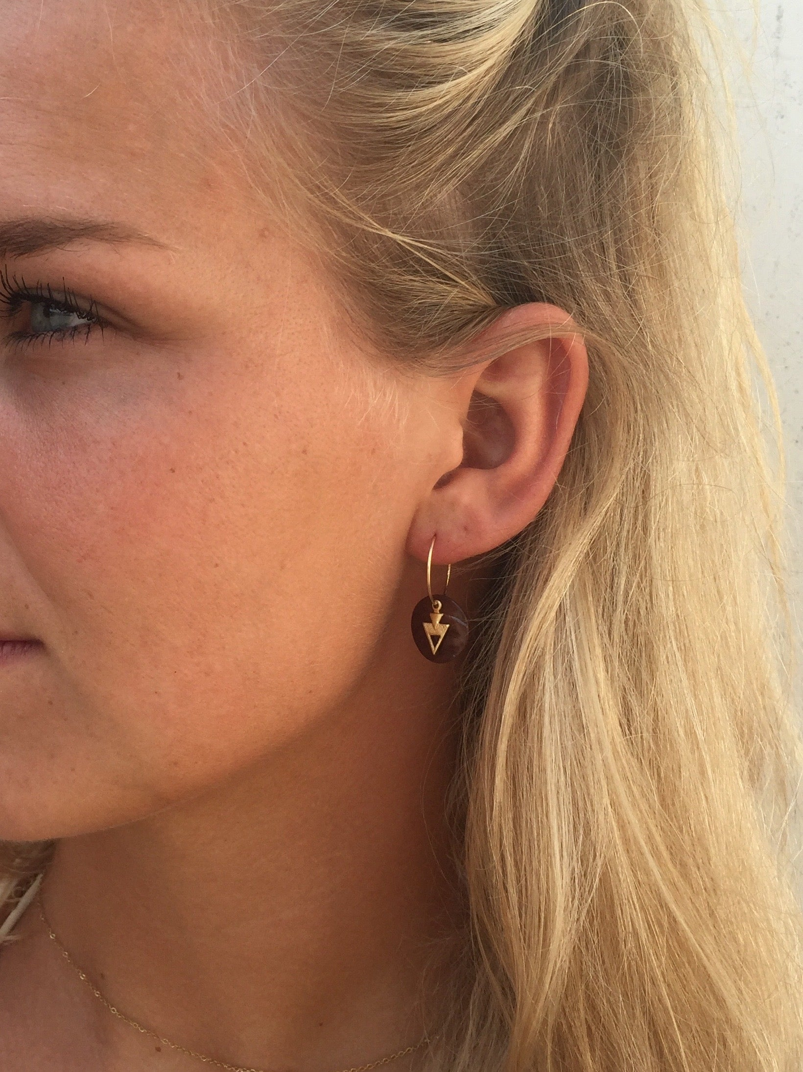 """Little hoops""-vintage arrow, 14K Gold-filled hoops"