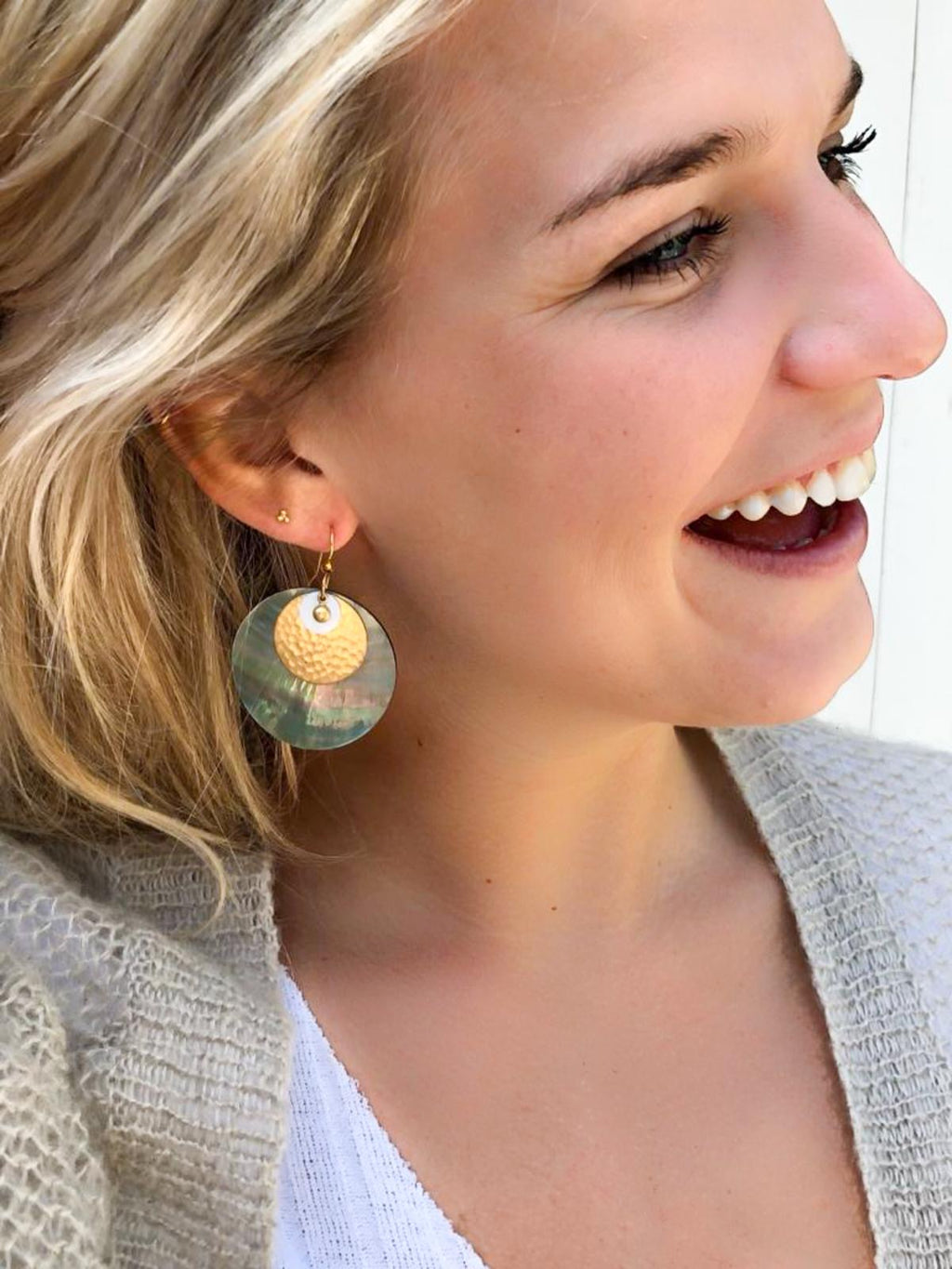 earrings oorbellen sieraden jewelry schelp shell statement