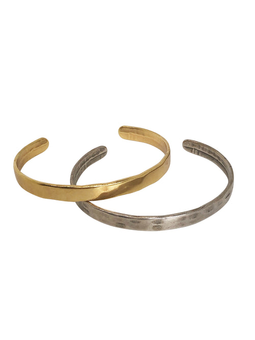 """Pretty Plain"" High quality metal cuffs in gold/silver colour (sold per piece)"