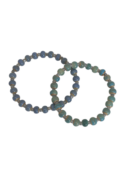 """Lagoon"" bracelet with ceramic beads"
