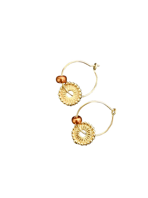 """Just Pretty"" gold-filled Hoops Gold plated circle"