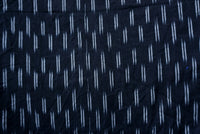Yarn Dyed Black and White Handloom Ikat Fabric Sold by Meter