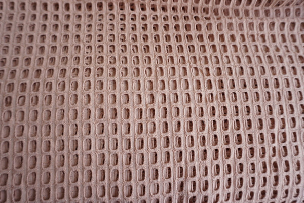 Dusty Pink Eyelet Embroidered Cotton Fabric Sold by Yard