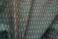 Olive Green and Brown Two Tone Handloom Ikat Fabric Sold by Yard