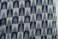 Navy and White Handloom Ikat Apparel Curtains Fabric Sold by Yard