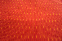 Red and Orange  Handloom Ikat Fabric Sold by Meter