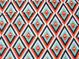 Diamond Pattern Cotton Blend Upholstery Fabric