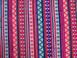 Cotton  and Acrylic Blend Multi color Fabric Sold By Yard