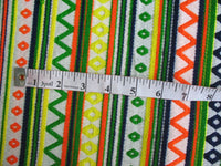 Geometric Pattern Multicolor Fabric for Bags, Pillows Sold by Yard