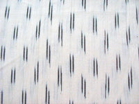 Black and cream Ikat Fabric Sold by Yard