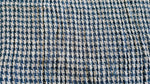 Houndstooth Blue and white soft cotton stitch detail fabric