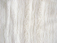 Soft white wrinkled stitch detail cotton gauze fabric