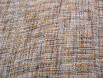 Yellow brown soft cotton stitch detail fabric