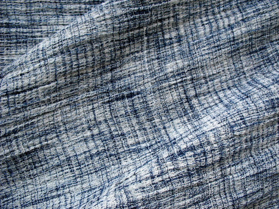 Woven Yarn Dyed Abstract pattern Blue and white soft cotton fabric Sold by Yard