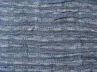 Blue grey soft wrinkled cotton gauze fabric