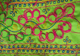 Mirror work Sheesha Embroidered Poly Cotton Fabric