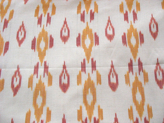 Yarn Dyed Ikat Upholstery Home Furnishing Throw Pillow Curtains Sofa Cover Fabric