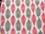 Multi Color Yarn Dyed Ikat Upholstery Home Furnishing Throw Pillow Curtains Sofa Cover Fabric
