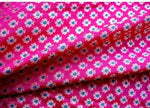 Floral Benarsi Silk Brocade Fabric in Fuchsia and Gold Color Sold by Yard
