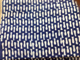 Abstract Print Hand Block Printed Indigo Fabric Sold by Yard