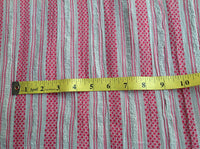 Pink and Grey Woven Striped Soft cotton Gauze fabric for Beach Coverup Shrugs Sold by Yard
