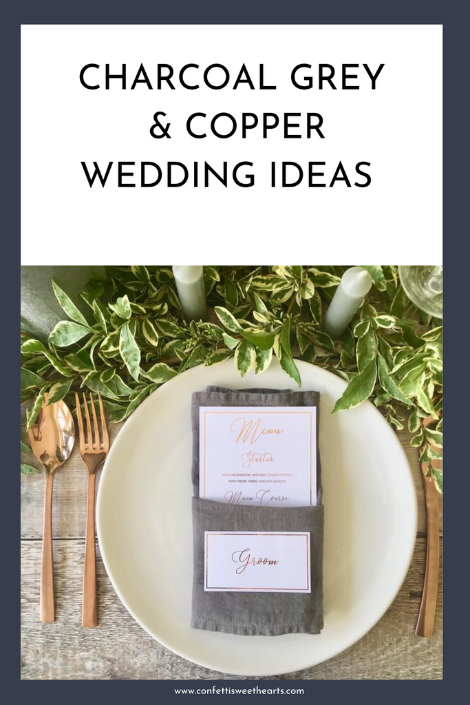 Charcoal Grey & Copper Wedding Inspiration