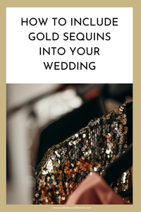 Glamorous Gold Sequin Wedding Ideas