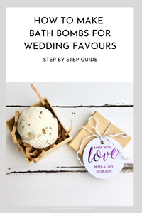 How to make bath bombs for wedding favours