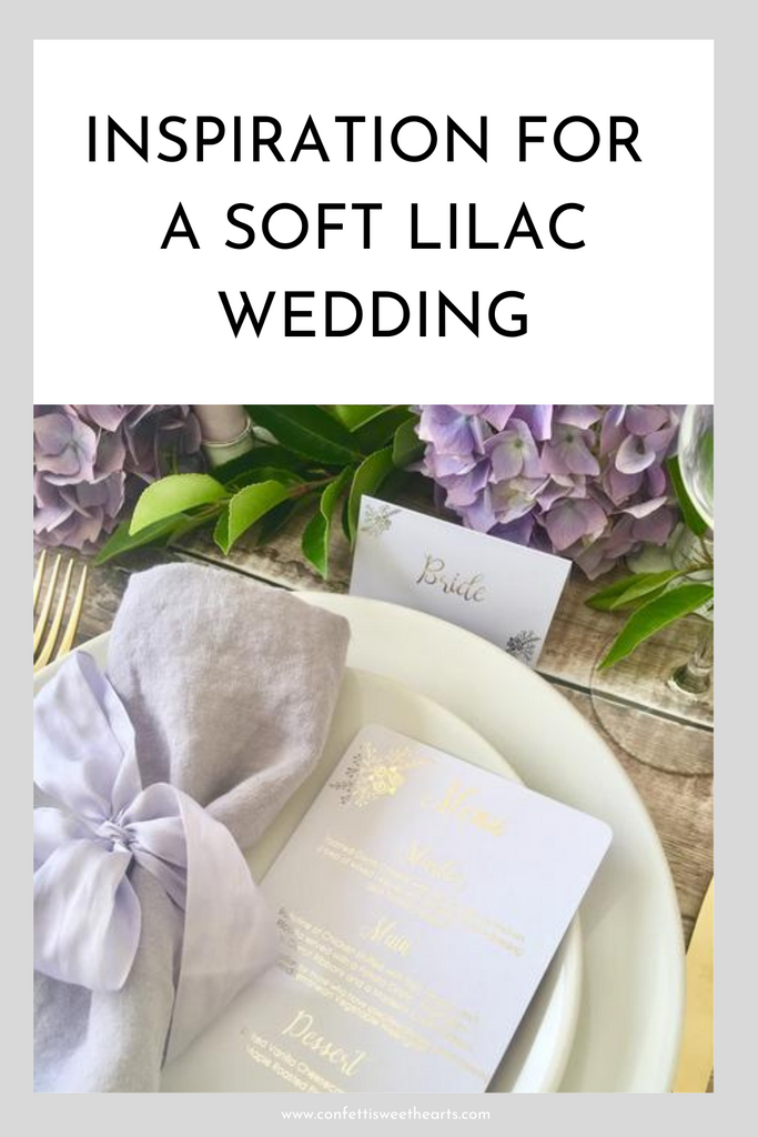 Inspiration for a soft Lilac Wedding