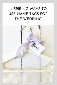 Inspiring Ways to use name Cards for the wedding