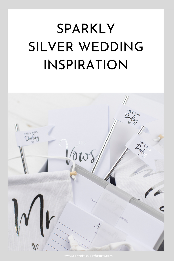Sparkling Silver Wedding Inspiration