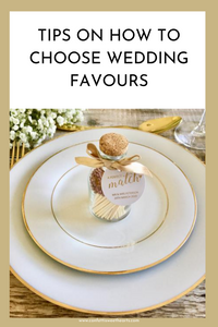 Tips on how to choose wedding favours