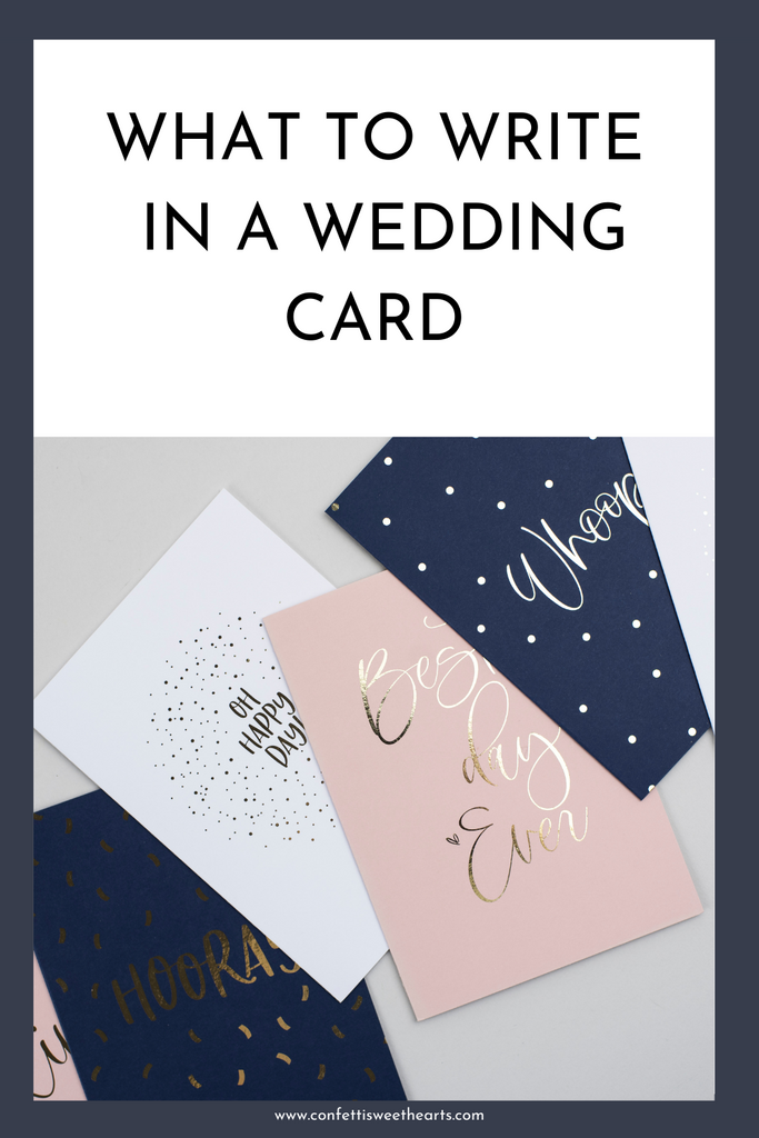 What to write inside a wedding card