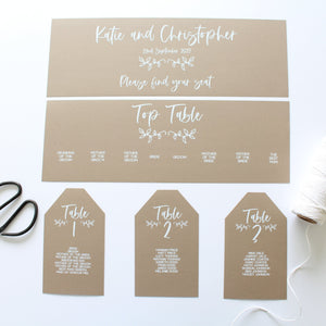 Table Plan's