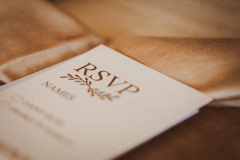 rsvp card timeless gold collection