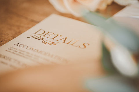details card timeless gold collection