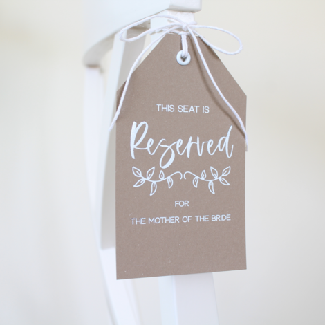 wedding reserved tags