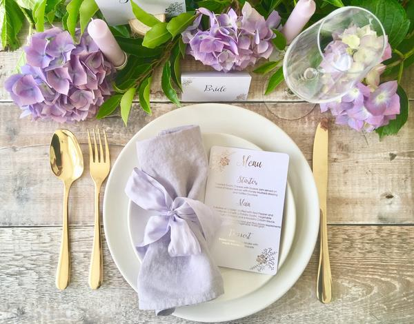 Menu from the Floral Collection