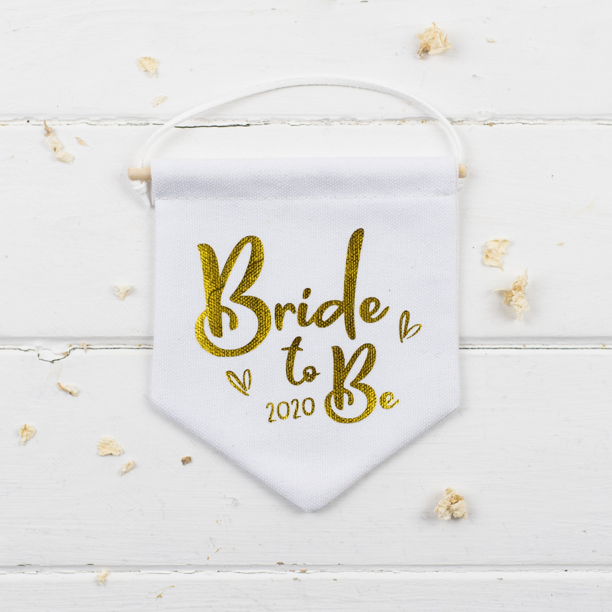 bride to be mini canvas banner for hen party