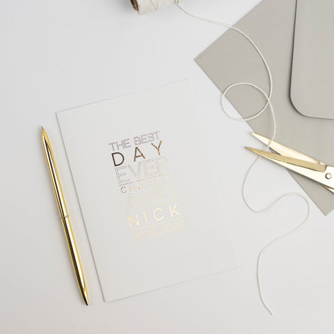 Personalised card - The best day ever
