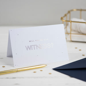 will you be our witness card wedding