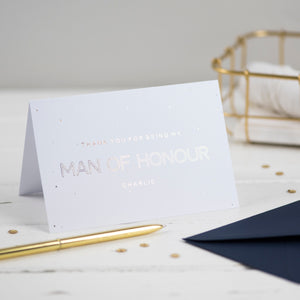 man of honour card