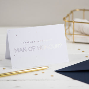 Personalised Will you be my Man of Honour card