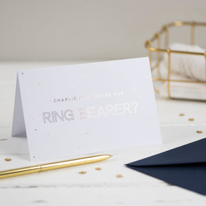 personalised will you be our ring bearer