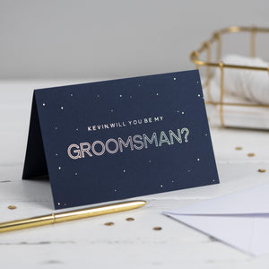 personalised will you be my groomsman card